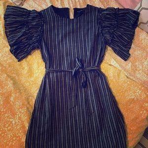 Mini dress w ruffle sleeves